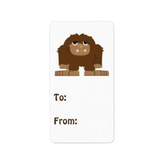 Cute little Bigfoot Address Label