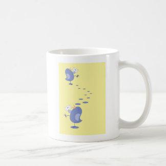 Cute little Bird sending mail Basic White Mug