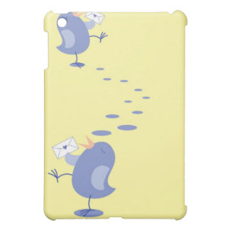 Cute little Bird sending mail iPad Mini Cover