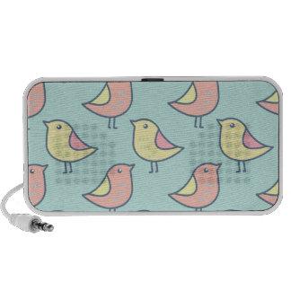 Cute Little Birds Seamless Pattern PC Speakers