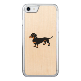 Cute Little Black and Tan Dachshund - Doxie Dog Carved iPhone 8/7 Case
