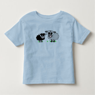 Cute Little Black Sheep and BigGray Sheep Shirt
