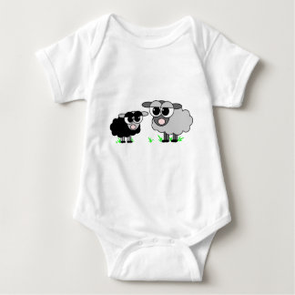 Cute Little Black Sheep and BigGray Sheep T-shirt
