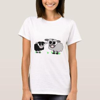 Cute Little Black Sheep and BigGray Sheep T-Shirt
