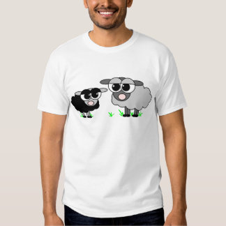 Cute Little Black Sheep and BigGray Sheep Tee Shirt