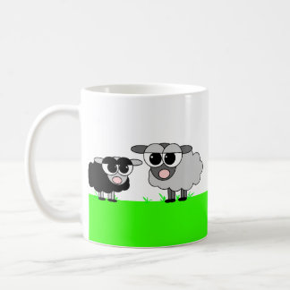 Cute Little Black Sheep & Big Gray Sheep Mug
