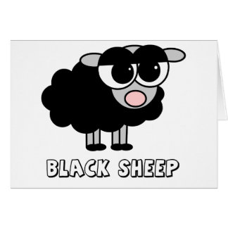 Cute Little Black Sheep Card