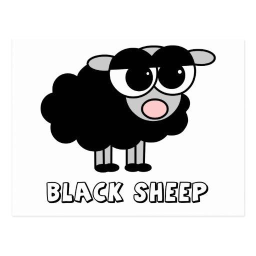 Cute Little Black Sheep Postcards