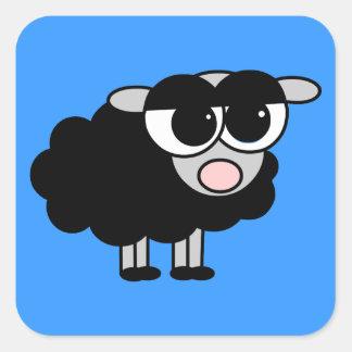 Cute Little Black Sheep Square Sticker