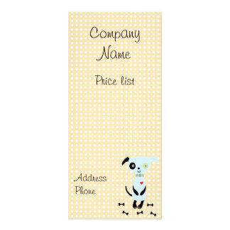 Cute Little Blue Dog Price Cards 10 Cm X 23 Cm Rack Card
