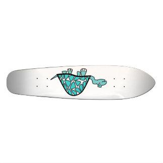 Cute little blue turtle custom skateboard