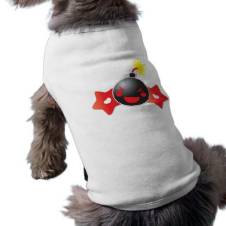 cute little boom! bomb sleeveless dog shirt