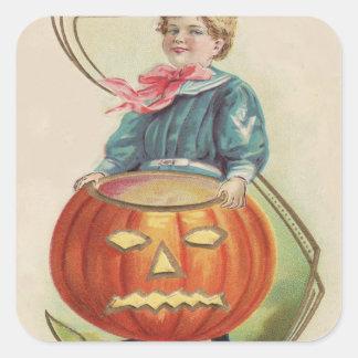 Cute Little Boy Sailor Outfit Jack O Lantern Stickers