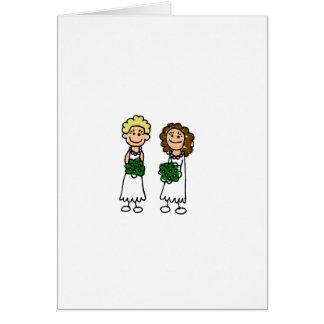 Cute Little Bride Lesbians Card