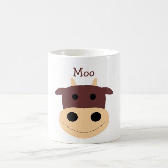Cute little brown cow coffee mug