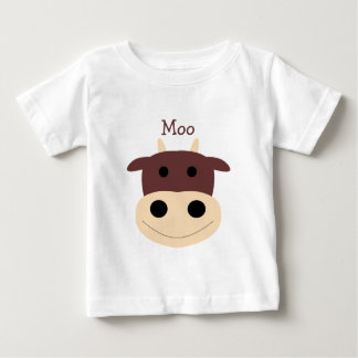 Cute little brown cow infant tshirt