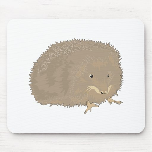 cute little brown hedgehog mouse pad