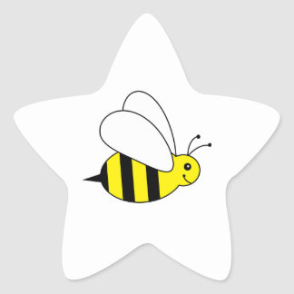 Cute Little Bumble Bee Honey Farm Star Stickers