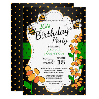 Cute Little Bumble Birthday Bees Card