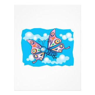 cute little butterfly in the sky 21.5 cm x 28 cm flyer