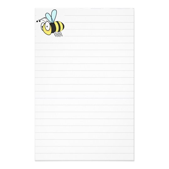 Cute Little Cartoon Bumble Bee Stationary Stationery