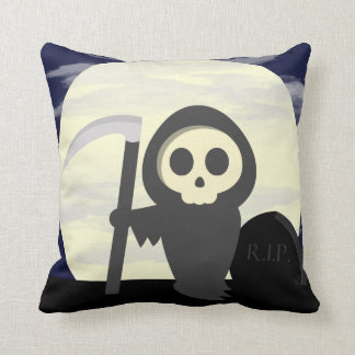 Cute Little Cartoon Skeleton Grim Reaper Pillow