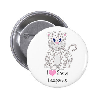 Cute little Cartoon Snow Leopard Cub 6 Cm Round Badge