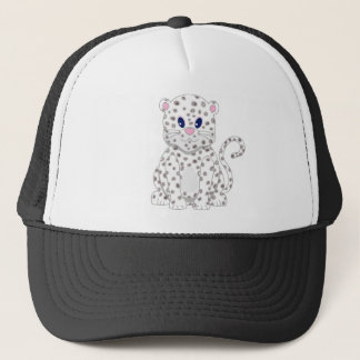 Cute little Cartoon Snow Leopard Cub Trucker Hat