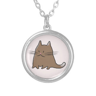 Cute Little Cat Silver Plated Necklace