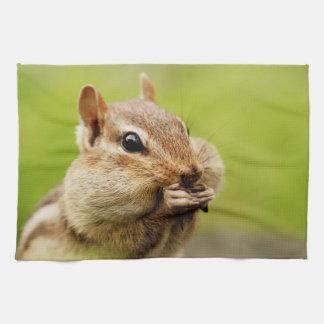 Cute Little Cheeky Chipmunk Tea Towel