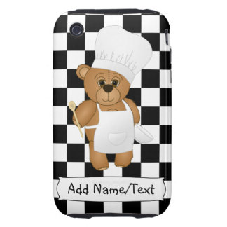 Cute Little Chef Costume Teddy Bear Cartoon Tough iPhone 3 Covers