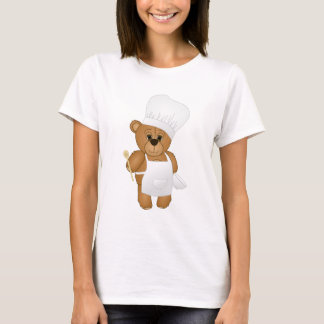 Cute Little Chef Costume Teddy Bear Cartoon T-Shirt