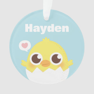 Cute Little Chick Just Hatched Decorative Ornament
