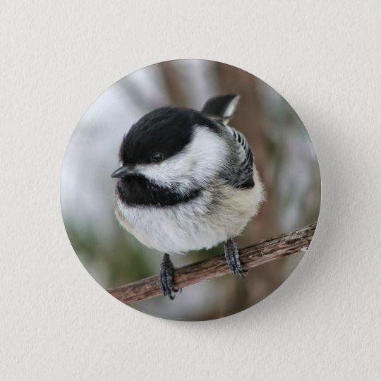 Cute Little Chickadee 6 Cm Round Badge