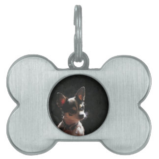 Cute Little Chihuahua Dog Pet ID Tag