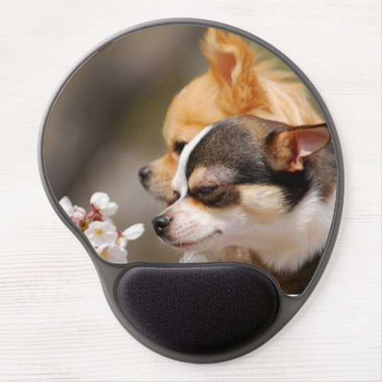 Cute Little Chihuahua Pups Gel Mouse Mat