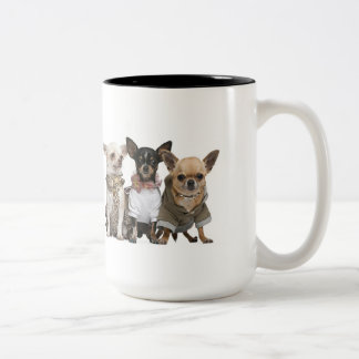 Cute little Chihuahuas Two-Tone Coffee Mug