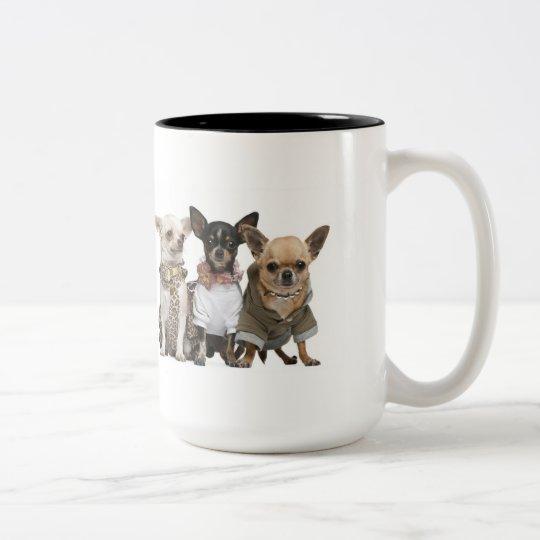 Cute little Chihuahuas Two-Tone Coffee Mug