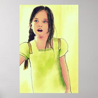 Cute Little Child Girl Poster