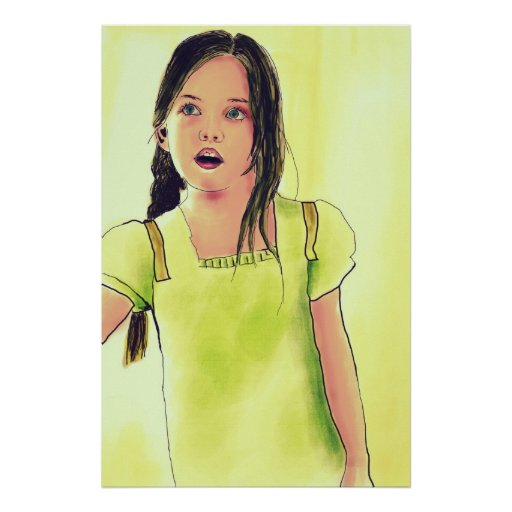 Cute Little Child Girl Posters