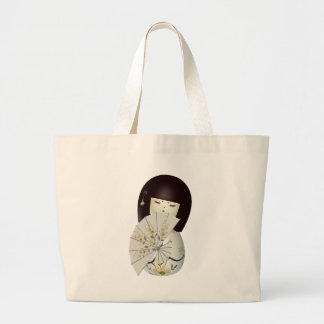 CUTE LITTLE CHINA DOLL LARGE TOTE BAG