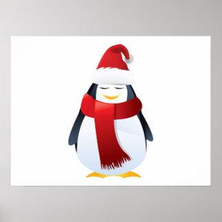 Cute Little Christmas Penguin Poster