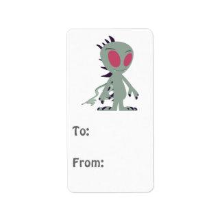 Cute little Chupacabra Address Label