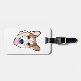 Cute Little Corgi Head Luggage Tag