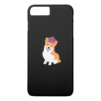 Cute Little Corgi Princess Wearing a Pink Crown iPhone 7 Plus Case