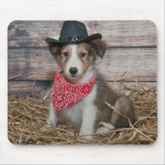 Cute Little Cowboy Puppy Mouse Mat