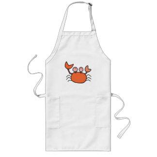 cute little crab long apron