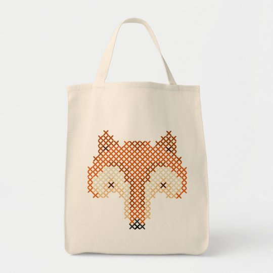 Cute Little Cross Stitched Fox Tote! Tote Bag