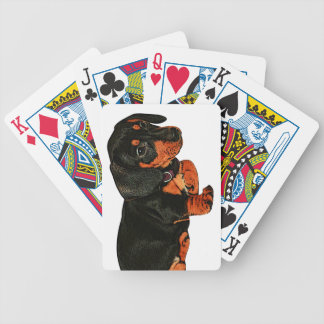 Cute Little Dachshund Design Playing Cards