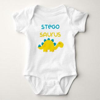 Cute Little Dino Family Stegosaurus Baby Jersey Baby Bodysuit